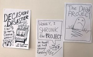 A collection of 'project disaster' posters