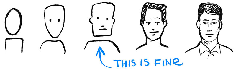 The more detail there is in your sketching, the more you'll need to think about diversity