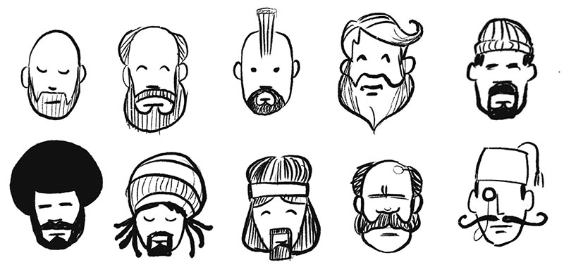 Beards beards beards! And also some accessories.