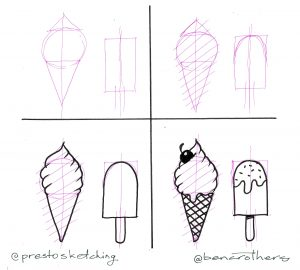 4-step guide to drawing ice cream