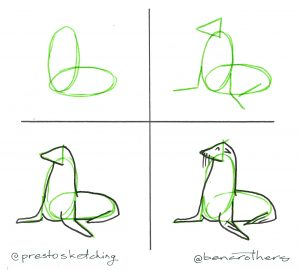 4-step guide to drawing a seal